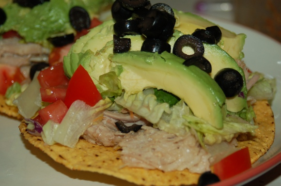 "Shredded Pork Tostada ""Salad"""