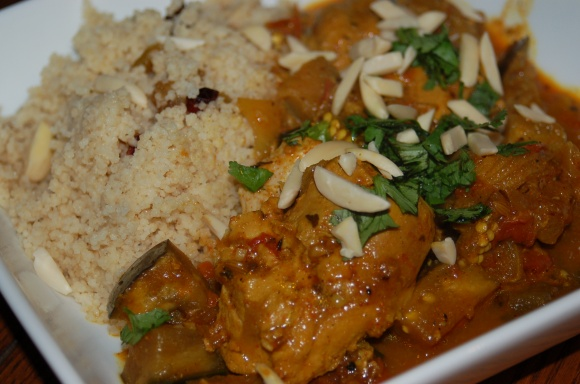 Moroccan Chicken with Kicked Up Couscous