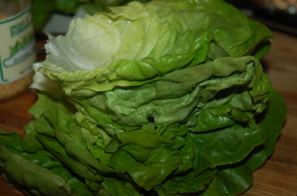 A tower of lettuce