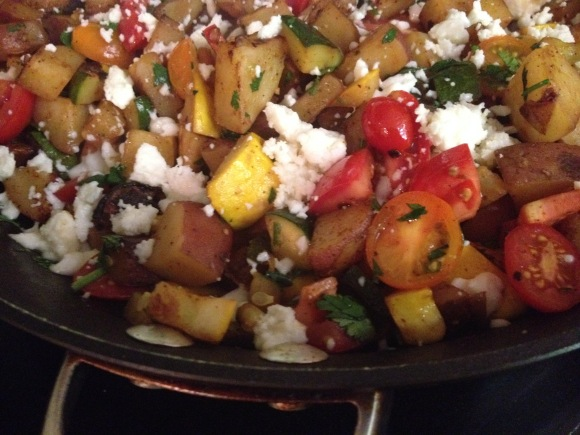 Mexican New Potato and Summer Squash Sauté