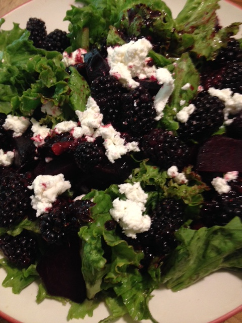 Beets, berries, goat cheese, oh my!
